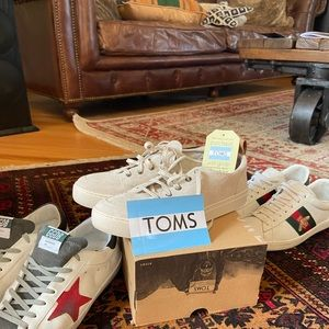 Toms suede sneakers shoes 8,5 new with box:))